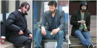 Keanu Reeves alone