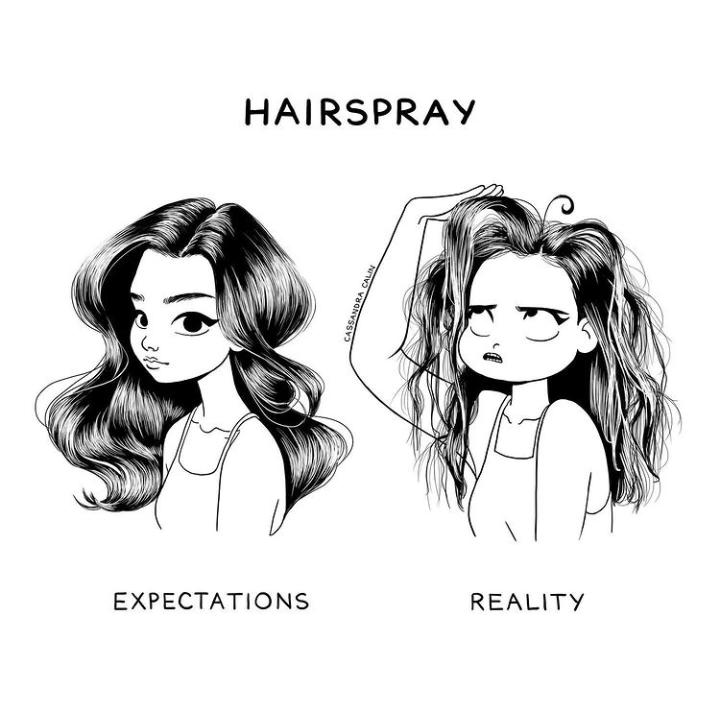 7-illustrations-showing-reality-of-having-long-hair-hair-spray