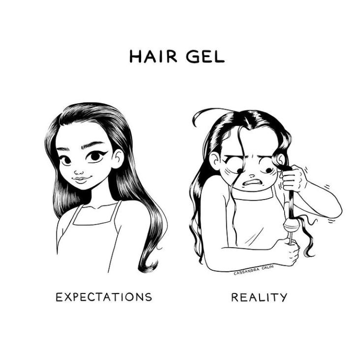 7-illustrations-showing-reality-of-having-long-hair-hair-gel