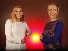 Elizabeth Olsen and Scarlett Johansson