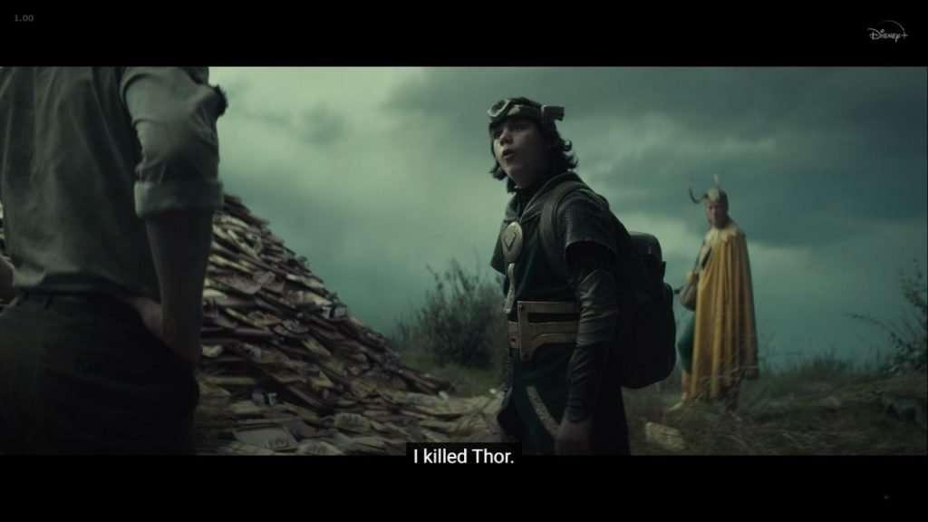 Boastful Loki talking about killing Thor