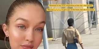 Model From Gigi Hadid's Viral Post