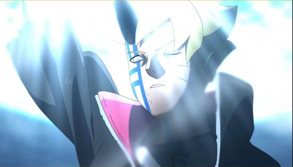 Boruto Episode 208: Boruto's Momoshiki Manifestation Defeats Boro with a Rasengan