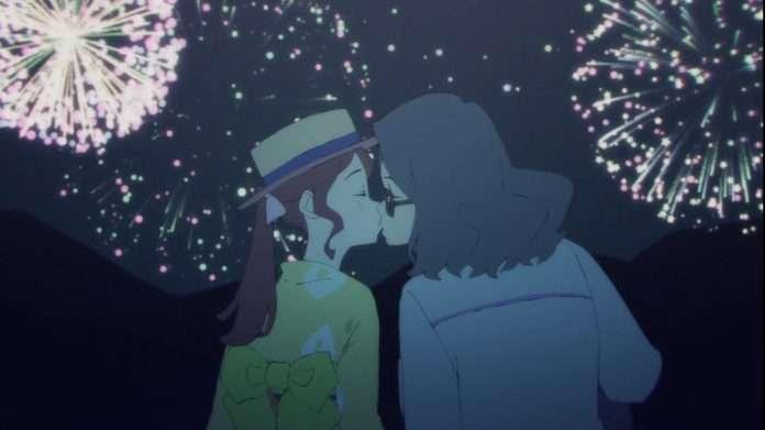 Sakura Fujiyama and Mr Fujiyama share a kiss