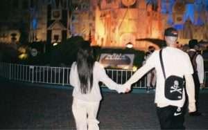 Kourtney And Travis Barker in Disneyland
