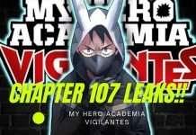 My Hero academia vigilantes chapter 107 leaks