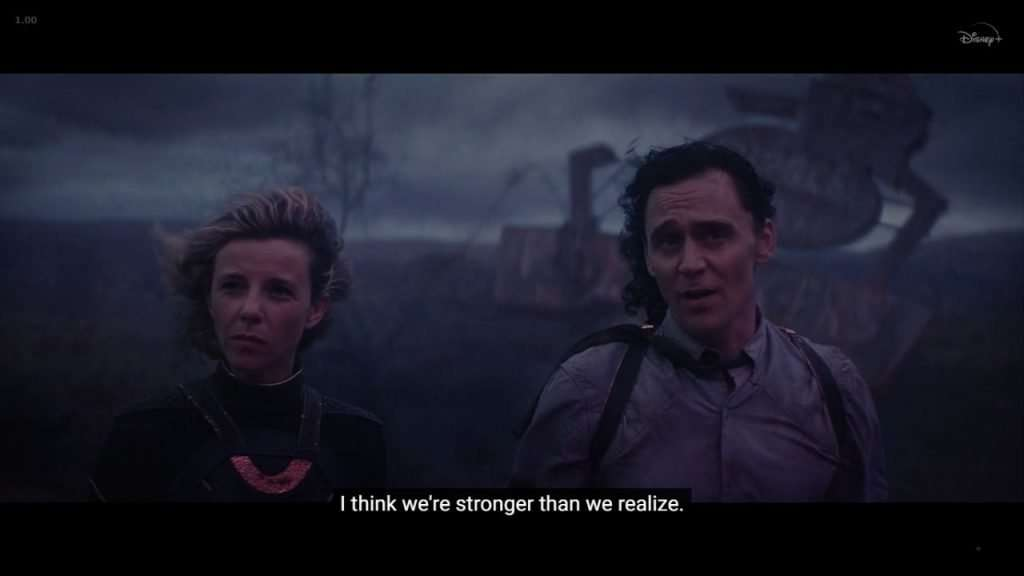 Sylvie saying we are stronger than we realize
