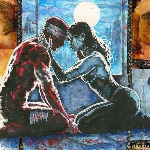 Maya Lopez meets Daredevil in comics